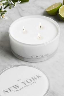 New York Collection Luxe 3 Wick Candle
