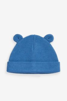 Blue Bear Rib Hat (0mths-2yrs)