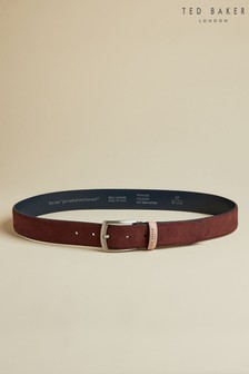 Ted Baker Red Shamble Suede Belt