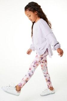 Lilac Sweatshirt And Sports Leggings Set (3-16yrs)