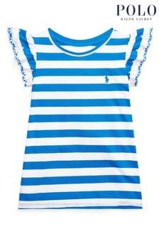 Ralph Lauren White And Navy Stripe T-Shirt
