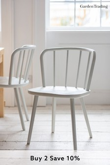 Pair of Uley Chairs in Lily White By Garden Trading