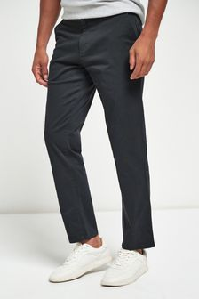 Charcoal Straight Fit Stretch Chinos