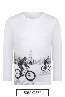 Boys Reflective Cotton Long Sleeve T-Shirt