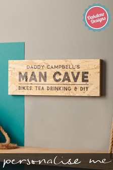 Personalised Wooden Man Cave Sign by Oakdene Designs