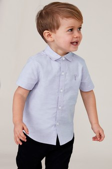Blue Short Sleeve Oxford Shirt (3mths-7yrs)