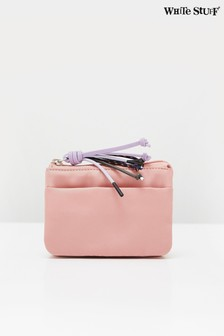 White Stuff Pink Nylon Zip Coin Purse
