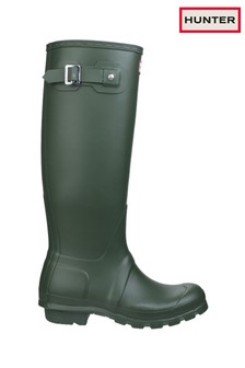Hunter Green Original Tall Wellington Boots
