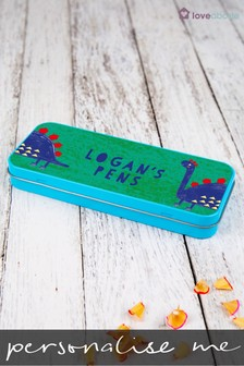 Personalised Dinosaur Pen Tin by Loveabode