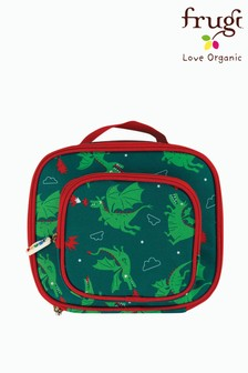 Frugi Green Recycled Dragon Print Lunch Bag With Pocket