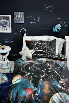 Spaceman Reversible Duvet Cover and Pillowcase Set