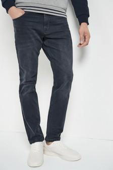 Smokey Grey Slim Fit Jeans With Stretch