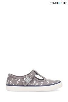 Start-Rite Surf Grey Shark Canvas Shoes