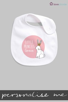 Personalised Little Princess Bib by Loveabode