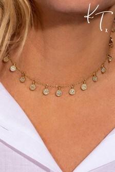 Kate Thornton Gold Pavé Boho Choker Necklace