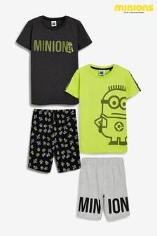 Yellow Minions 2 Pack Short Pyjamas (1.5-12yrs)