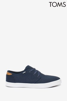 TOMS Navy Canvas Carslon Sneakers