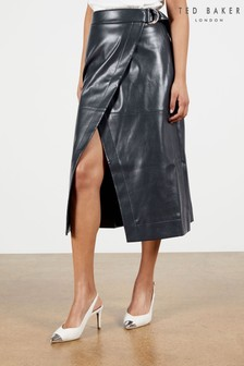 Ted Baker Blue Elii A-Line Wrap Skirt