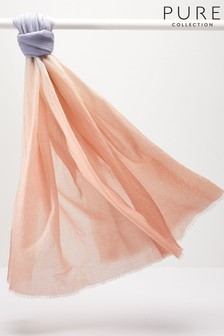 Pure Collection Pink Ultra Soft Wool Scarf