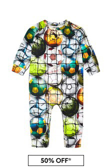Baby Boys Multicoloured Cotton Babygrow