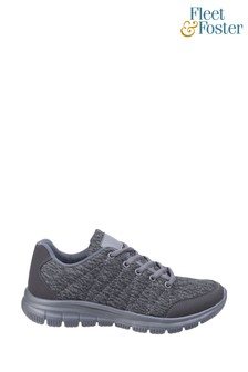 Fleet & Foster Grey Elanor Lace-Up Trainers