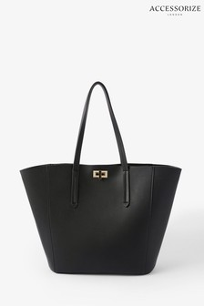 Accessorize Black Kayla Curve Tote Bag