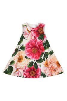 فستان بيبي بناتي وردي
