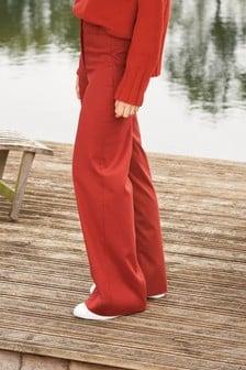 Rust Emma Willis Textured Wide Leg Trousers