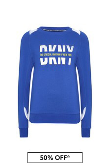 DKNY Boys Blue Cotton Sweat Top