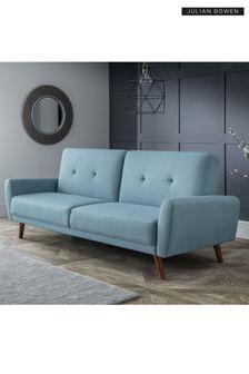 Blue Monza Sofa Bed By Julian Bowen