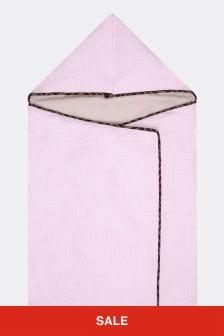 Baby Girls Pink Cotton Logo Nest Sleep Bag