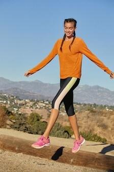 Orange Long Sleeve Sports Top