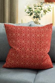 Kenza Chenille Geo Cushion by Ashley Wilde