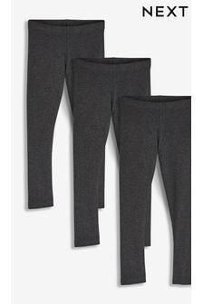 Charcoal Grey 3 Pack Leggings (3-16yrs)