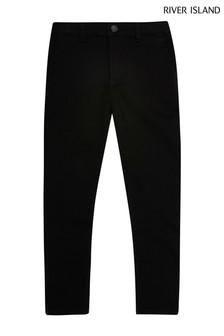 River Island Black Smart Skinny Trousers