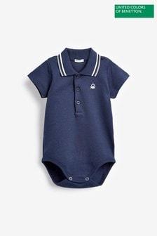 Benetton Navy Polo Bodysuit