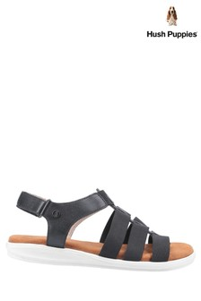 Hush Puppies Black Hailey Gladiator Sandals