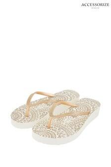 Accessorize Gold Eva Sandals