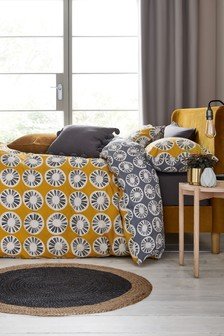 Reversible Retro Geo Duvet Cover and Pillowcase Set