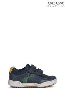 Geox Junior Boy's Poseido Navy/Green Shoes