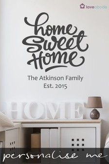 Personalised Home Sweet Home Wall Sticker by Loveabode