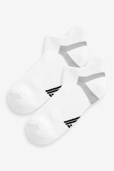 White Blister Resist Sports Trainer Socks Two Pack