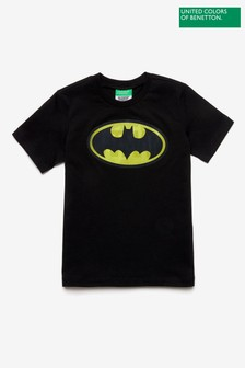 Benetton Black Batman T-Shirt