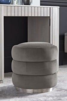 Opulent Velvet Steel Henderson Storage Stool