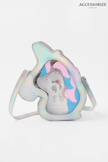 Accessorize Metallic Unicorn Gift Bag