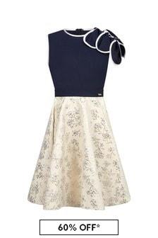 فستان كحلي بتلات للبنات