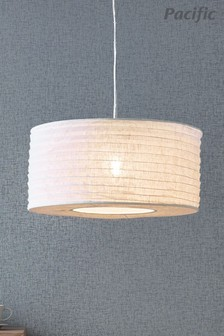 Patpong 35cm White Jute Easy Fit Pendant by Pacific