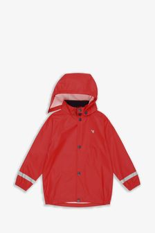 Muddy Puddles Red Rainy Day Waterproof Jacket