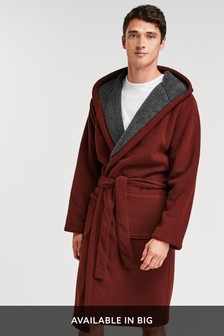 Rust Borg Lined Dressing Gown