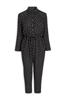 Black Spot Long Sleeve Jumpsuit